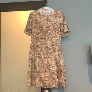 Banana Republic silk leopard dress